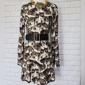 H&M cat print dress. Size 6. Like new.